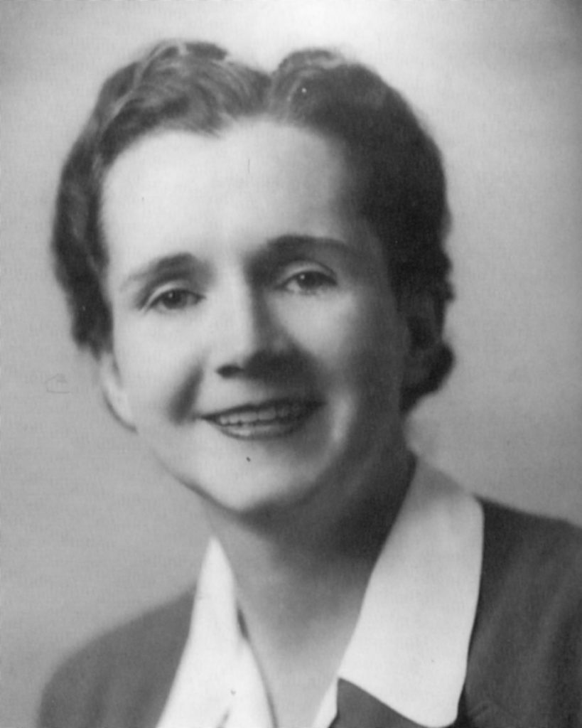 Rachel Carson in 1944 toward the end of her career with the U.S. Fish and Wildlife Service.