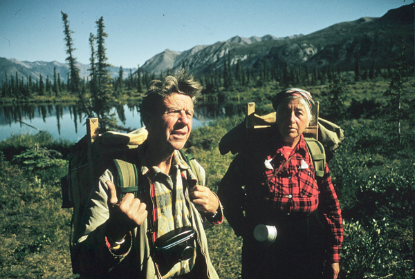 Olaus and Mardy Murie in the backcountry of the Tetons.